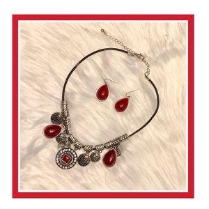 Premier Designs Jewlrey Cayenne Necklace&Earrings